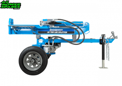 Bushranger LS252 25 Ton Log Splitter - Larger Wheel Hubs and Wheels, Larger Log Cradle